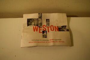 Weston Master IV Exposure Meter  manual only