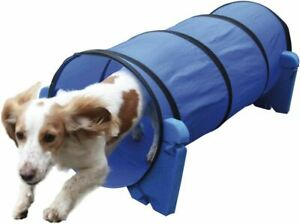 Small Dog Soft Rigid Foam & Fabric Easy Assemble Agility Tunnel Fun Exercise