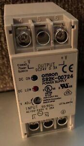 NEW OMRON S82K-00724 24VDC/0.3A POWER SUPPLY DIN RAIL MOUNT