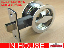 Cavity Sliding door Lock-diamond turn- privacy function-round-cp