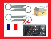 4 Cles clef extraction autoradio démontage audi RNS RNSE audi a3 AUDI GPS a4