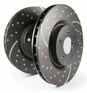 # GD7020 EBC Turbo Grooved Brake Discs FRONT (PAIR) fit Ford Mustang