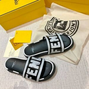 FENDI LOGO SLIPPERS