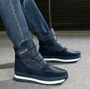 Winter Men's Sneakers Ankle Boots Waterproof  Boots high  top Fur Lining Shoes