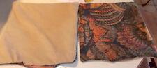Pair of Basket Decorative Print Throw Pillows 15 x 15