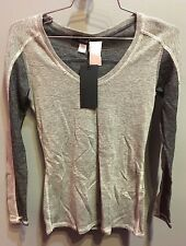 $71 NWT SoLow Brand Dark And Light Gray Thermal Top Medium