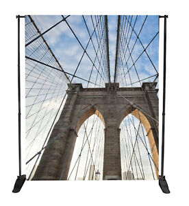 7ftx 7ft Adjustable Step and Repeat Telescopic Banner Backdrop Stand Trade show