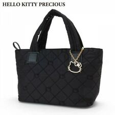 Hello Kitty Quilted Tote Bag S Black HELLO KITTY PRECIOUS Sanrio From Japan EMS