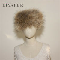 New Women's Real Genuine Fox Fur Stretchable Scarf Headband Neck Warmer Wrap