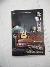 """COLLECTOR: Album promo de Jean Felix Lalanne """"Une voix, une guitare"""" (2013)"""