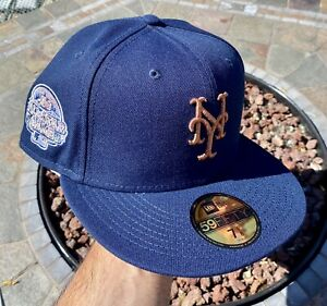New Era New York Mets Blue 7 1/8 All Star Patch Not Hat Club Fitted Pink UV