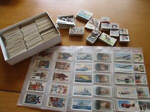 cigarette cards job lot 5 FULL SETS 6 PART SETS + WELL OVER 1000 LOOSE READ ON