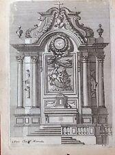 Tabernacolo altare Paris  P. Mariette Rue S. Iacques acquaforte XVIII Lepautre