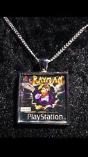Retro Gaming Necklace And Keyring Playstation PS1 Rayman Rabbids