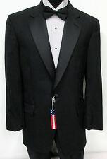 New Black Brooks Brothers One Button Satin Lapel Tuxedo Jacket Wedding Prom 38R