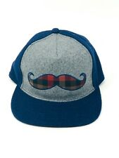 Trucker Hat Cap With a Plaid Mustache Embroidery. Cap is in Great Conditions