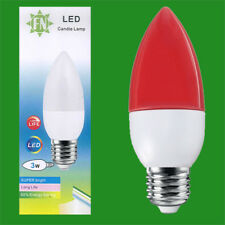 2x 3W LED Coloured ES E27 Candle Light Bulb Lamp, Red Yellow Green Blue, 85-265V