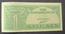 Indonesie - Indonesia 1 Sen 1945 Satu Sen 1945 PR/XF - UNC P 13