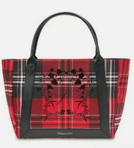 Victoria's Secret VS Red Black Plaid Tote Large $58 New and Sealed