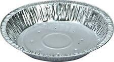 """50 x Foil Dishes 6"""" Steak Pie Flan Round Quiche 20mm Depth Holes Cake WN-008"""