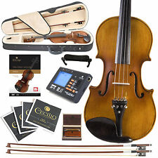 NEW 1/2 EBONY HIGH FLAMED SOLID WOOD VIOLINBOOK
