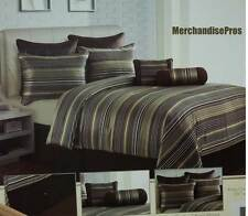 8 Pc 'Jacquard' Queen Comforter Set With 2 Accent Pillows & Euro Shams 86x86 New
