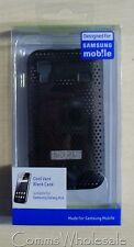 Designed For Samsung Galaxy Ace Black Vented Case Part.  SAMACECCBK - NEW