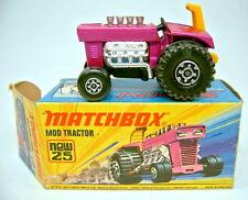 Matchbox SF nº 25b mod tractor lila metalizado top en Box