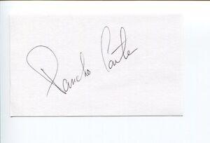 Pancho Carter NASCAR Indy CART Midget Sprint HOF Race Driver Signed Autograph