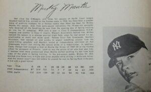1951 Yankees Sketch Book Yearbook Martin & Mantle Rookie Yr DiMaggio Final Year