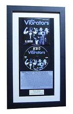 THE VIBRATORS+V2+BBC Sessions CLASSIC CD FRAMED PUNK DISPLAY+EXPRESS GLOBAL SHIP