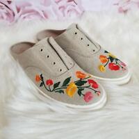 Lauren Ralph Lauren Women's Jaida Slip-On Flat Shoes Natural Linen