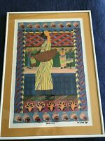 """Art Print by Artist M.L. (Lisa) ETRE - Titled """"DAUGHTAH"""" Signed in the Plate"""