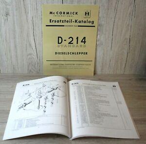 Mc Cormick Ersatzteilliste für Traktor Standard D-214  D214 .