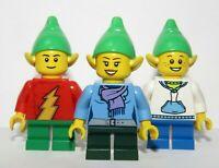 Lego 3 Minifigure Girl Boy Elf Elve Helpers Christmas Xmas Advent Santa