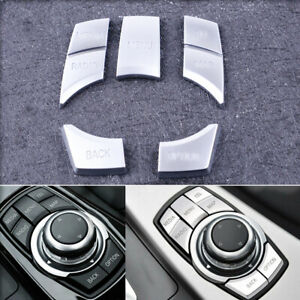 IDrive Multi-Media 7 Buttons Cover Trim For BMW 3 4 5 6 X5 X6 Series