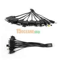Portable USB 10 in 1 Charging Cable Multi Charger Cord fr PDA Cell phone MP3 PSP