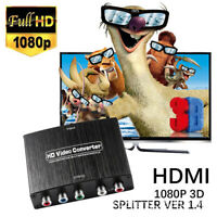 HDMI to 5RCA RGB 4K Component YPbPr Video & R/L Audio Adapter Converter HD TV JL