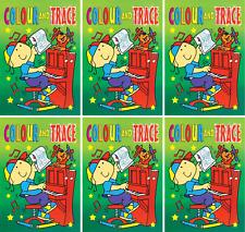 Set da 6 A4 COLOUR & TRACCIA BOOKS bambini SACCHETTO giocattolo VERDE Copertina