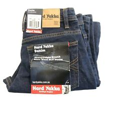 BNWT Men's Hard Yakka Heavyweight Stretch Rinse Wash Bull Denim 72R Y44610