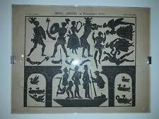Ombres Chinoises et Personnages diverses Gravure des imageries d'Epinal par l'im