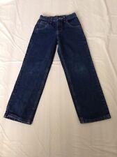 Wrangler stretch jeans boys size 10R dark blue adjustable waist band