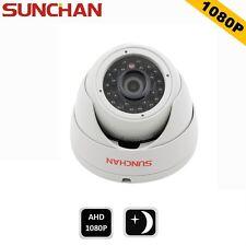 SUNCHAN 1080P Indoor 2MP Dome Metal Day Night 3.6mm IR CCTV AHD Security Camera