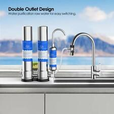 Dual Countertop Drinking RO Water Filter CTO Ceramic Tap Purifier Home Kitchen