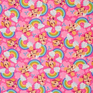 Lizenz Softshell Paw Patrol Skye Regenbogen Kinderstoff Meterware 0,5m