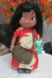 """Disney Store Animators Lilo Doll with Scrump 16"""""""