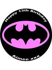 7.5 BATGIRL EDIBLE ICING BIRTHDAY CAKE TOPPER