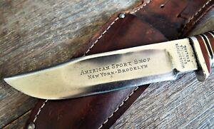 WADE & BUTCHER Sheffield England ~1920's American Sports Shop NY Brooklyn KNIFE