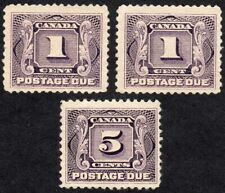 Canada 1906 Postage Due Stamps - Scott J1 & J4 - MNH OG F