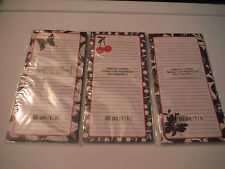 NEW LOT OF 3 MAGNETIC SHOPPING TO DO LISTS NOTES - Red/White/Blue
